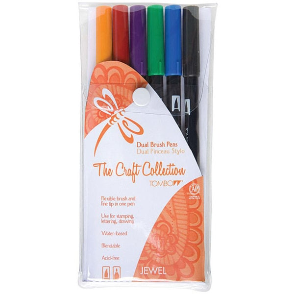 Tombow Jewel Dual Brush Pen Set (Pack of 6)