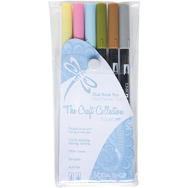 Tombow Soda Shop Dual Brush Pen Set (Pack of 6)