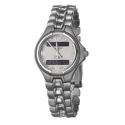 Tissot Women's T65718831 T-Classic PR50 Titanium Digital Grey Dial Watch