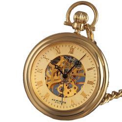 Akribos XXIV Men's Mechanical Gold Pocket Watch - Thumbnail 0