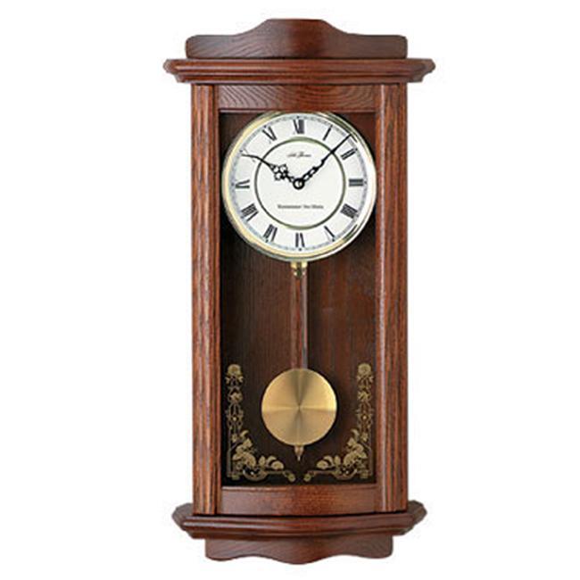 Seth Thomas 'Kipler' Honey Oak Wood Chime Pendulum Wall