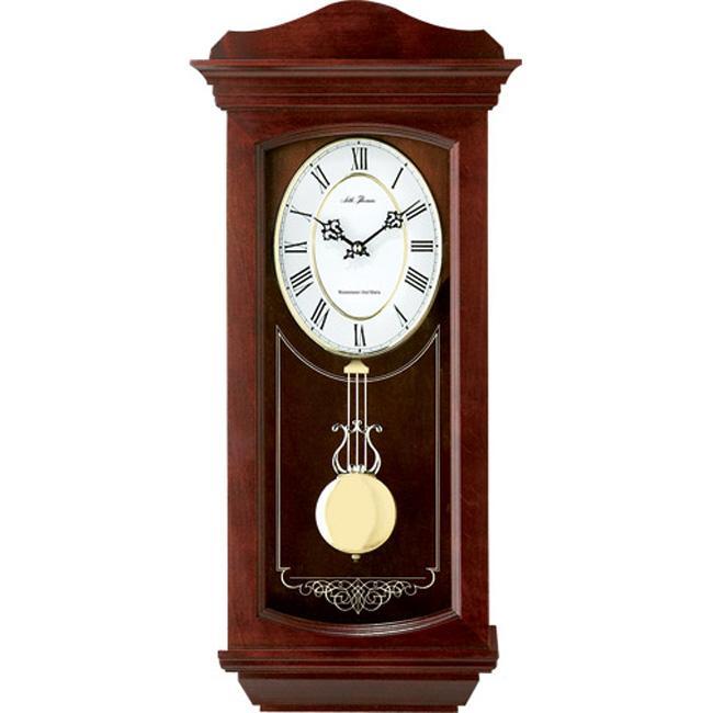 Seth Thomas Tarantino Walnut Wood Chime Pendulum Wall Clock