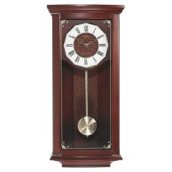 Seth Thomas 'Nora' Mahogany Hardwood Chime Quartz Pendulum Wall Clock