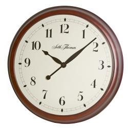 Seth Thomas 'State Street' Walnut Wood Quartz Wall Clock