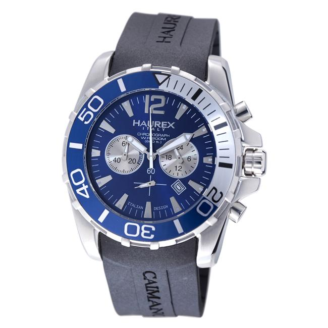 Haurex italy men 39 s 39 caimano 39 chronograph diver 39 s watch free shipping today for Haurex watches