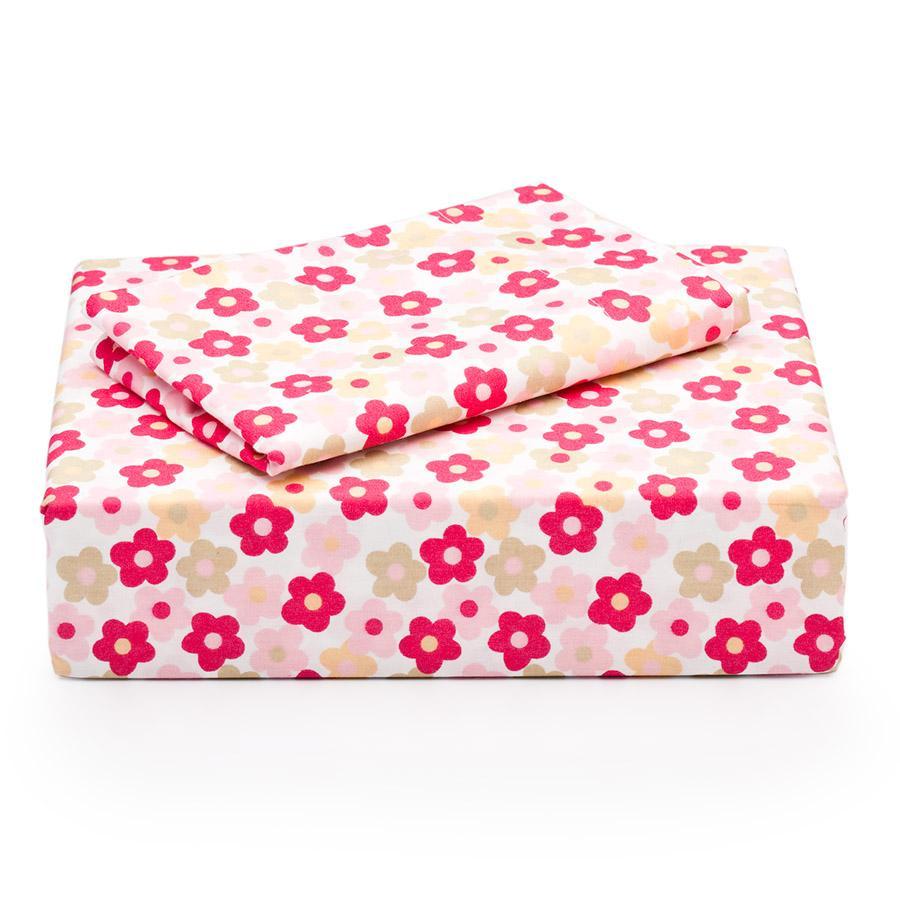 Laura Ashley Daisy Cotton 200 Thread Count 4-piece Sheet Set