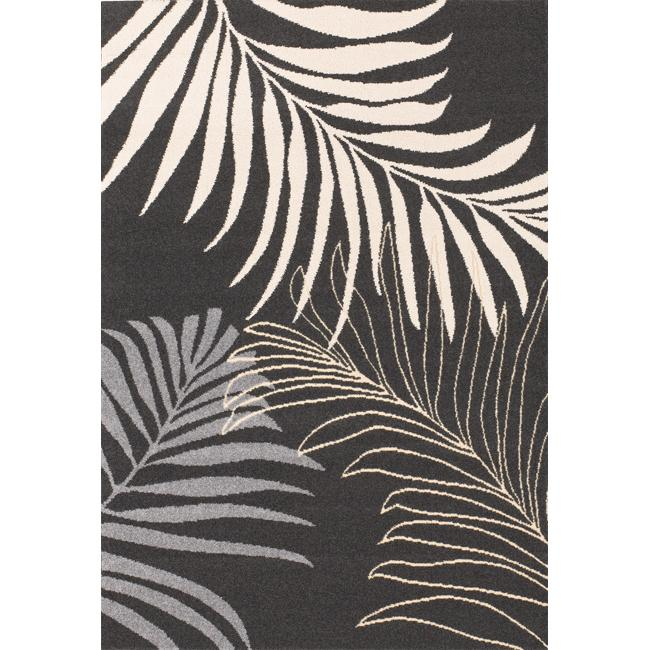 nuLOOM Euro Collection Coconut Leaves Fossil Gray Rug (6'6 x 9'6)