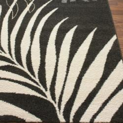 nuLOOM Euro Collection Coconut Leaves Fossil Gray Rug (6'6 x 9'6) - Thumbnail 1
