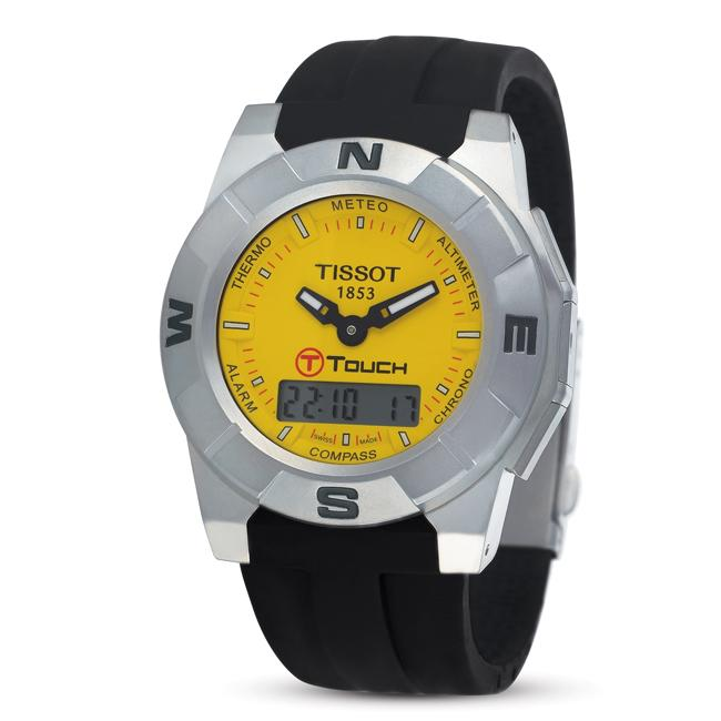 12f555a25 Shop Tissot Men's T-Touch Trekking Series Yellow Dial Watch - Free Shipping  Today - Overstock - 5075044