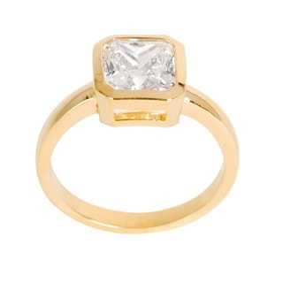 NEXTE Jewelry 14k Gold Overlay Princess-cut Clear Cubic Zirconia Solitaire Ring