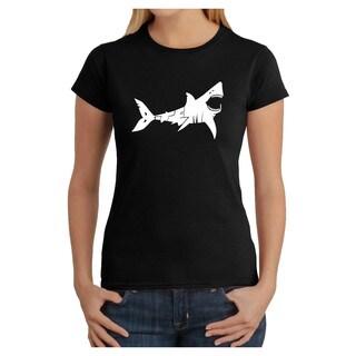 Los Angeles Pop Art Women's 'Bite Me' Shark T-shirt