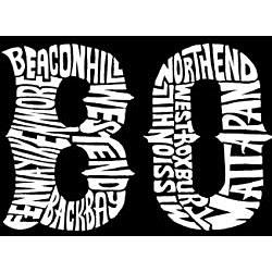 Los Angeles Pop Art Women's Boston T-shirt - Thumbnail 2