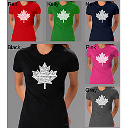 Los Angeles Pop Art Women's O Canada T-shirt