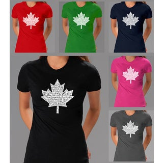 Los Angeles Pop Art Women's O Canada T-shirt (More options available)
