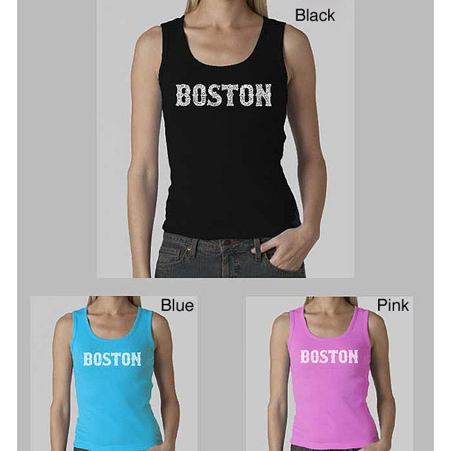 Los Angeles Pop Art Women's Boston Tank Top
