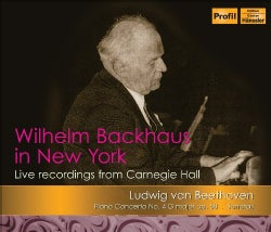 L.V. BEETHOVEN - WILHELM BACKHAUS IN NEW YORK: