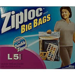 Ziploc Large 3 Gallon Bags 40