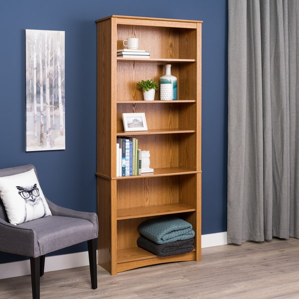 orson 6 shelf slim bookcase white premier corner black