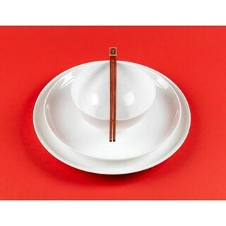 Red Vanilla 16-piece Bone China Coupe Dinnerware Set