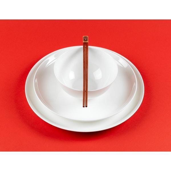 Pure Vanilla Bone China Coupe Dinnerware 16pc. Set