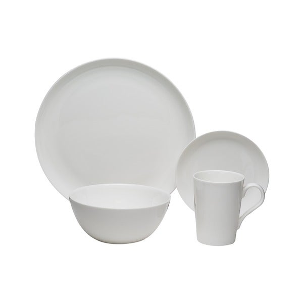 Red Vanilla 16-piece Bone China Coupe Dinnerware Set  sc 1 st  Overstock.com : white coupe dinnerware - pezcame.com
