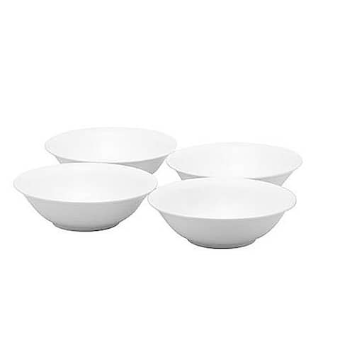 Red Vanilla Cereal Bowls Set/4