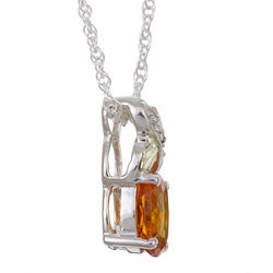 Black Hills Gold and Silver November Birthstone Necklace