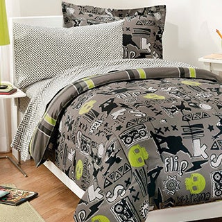 X-Factor Twin 5-piece Bed in a Bag with Sheet Set
