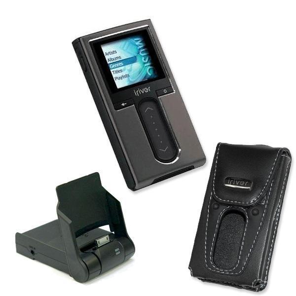 Thumbnail IRiver H10 5GB MP3 Player Docking Cradle Grey Leather Case Set Refurbished