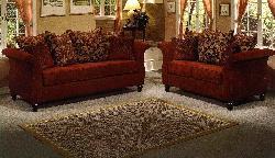 Chianti Fabric Sofa and Love Seat Set