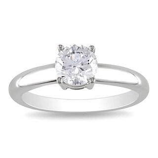 Miadora Signature Collection 14k Gold 1ct TDW Round Diamond Solitaire Ring (G-H, I1-I2)