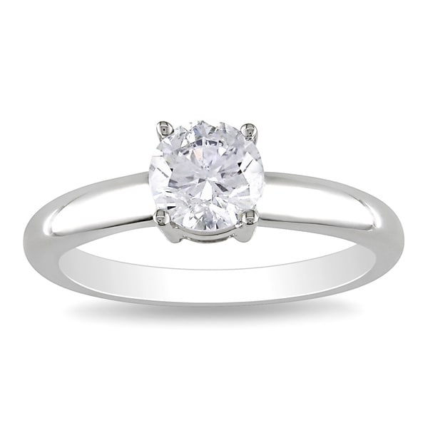 Miadora Signature Collection 14k Gold 1ct TDW Round Diamond Solitaire Ring (G-H, I1-I2)