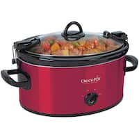 Crock-Pot Cook and Carry 6-Quart Manual Slow Cooker, Red