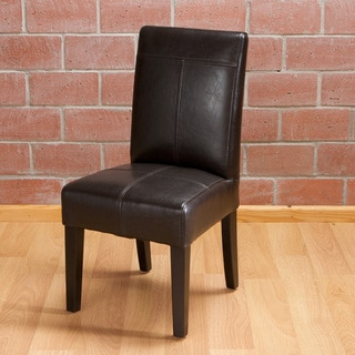 Isabella Dark Brown Patent Leather Children's Dining Chair (Set of 2) by Christopher Knight Home