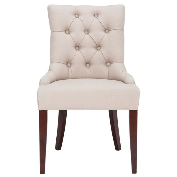 """SAFAVIEH Dining Nimes Putty Grey Dining Chair - 22""""x23.8""""x36.4"""". Opens flyout."""