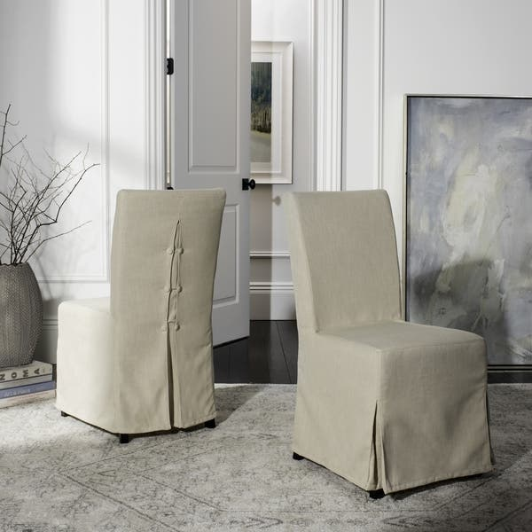 Safavieh Parsons Dining Slipcover Dining Chairs Set Of 2 Overstock 5016637