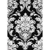 Alliyah Handmade Black New Zealand Blend Wool Rug (8' x 10') - 8' x 10'