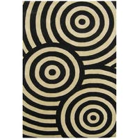 Alliyah Handmade Black New Zealand Blend Wool Rug - 8' x 10'