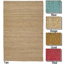 Artist's Loom Hand-woven Casual Reversible Natural Eco-friendly Jute Rug (7'9x10'6)