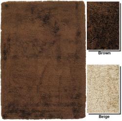 Artist's Loom Hand-woven Shag Rug (7'9 x 10'6)