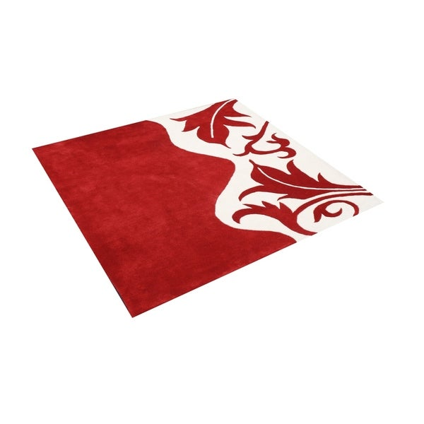 Christmas Area Rugs 8 X 10.Hand Tufted Royal Quill Red White Wool Rug 8 X 10 8 X 10