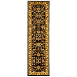 Safavieh Lyndhurst Traditional Oriental Black/ Ivory Runner (2'3 x 6')