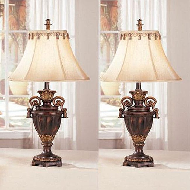 Living room double gourd table lamp vintage red table lamp for full