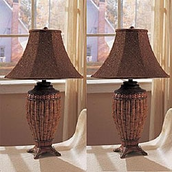 Bambit 30-inch Bamboo-inspired Table Lamps (Set of 2)