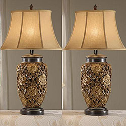 Flostic 33-inch Antique Table Lamps (Set of 2) - Free Shipping ...:Flostic 33-inch Antique Table Lamps (Set of 2),Lighting