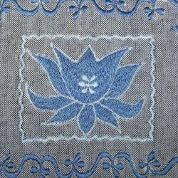 Handmade Cotton Lotus Passport Bag (Nepal) - Thumbnail 2
