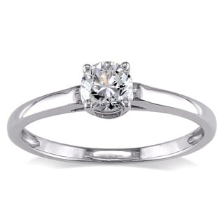 Miadora Signature Collection 14k White Gold 1/2ct TDW Diamond Solitaire Engagement Ring (H-I, I2-I3)