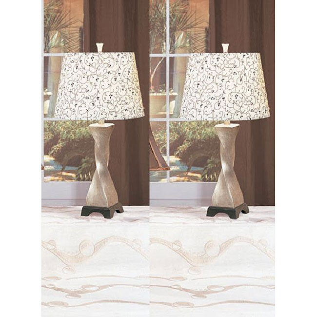 Twilight 28-inch Antique Table Lamps (Set of 2)