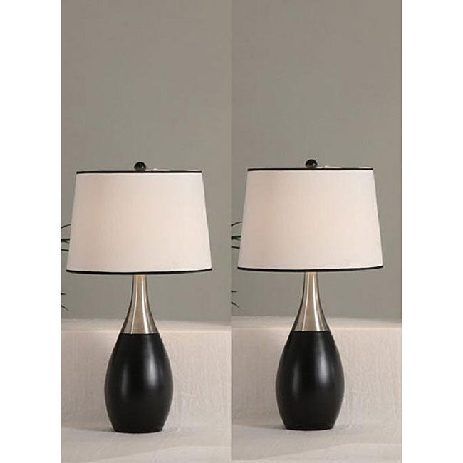 blaque 30 inch antique table lamps set of 2 free. Black Bedroom Furniture Sets. Home Design Ideas