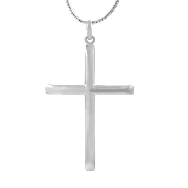 Journee Collection Sterling Silver Cross Necklace